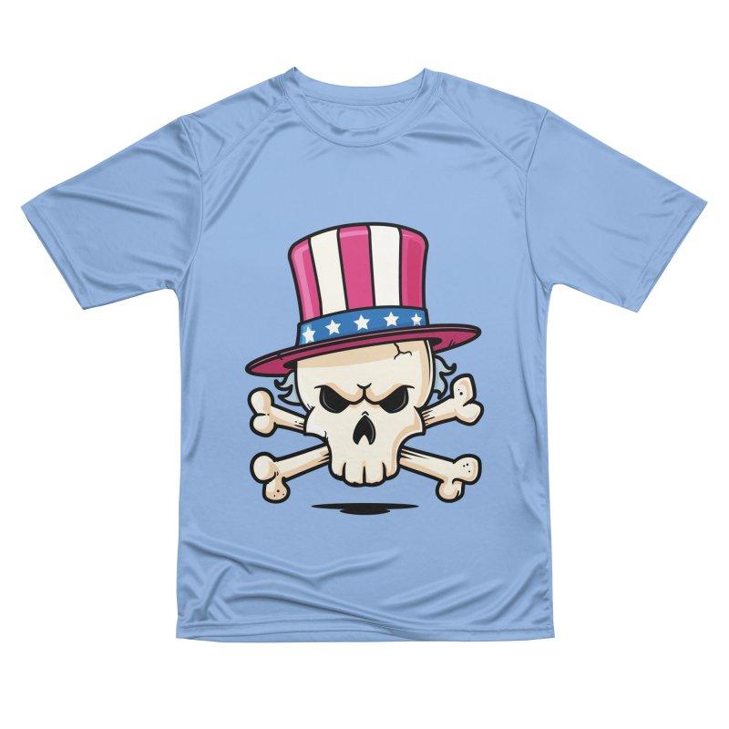 Uncle Sam Skull Men's Performance T-Shirt by zoljo's Artist Shop