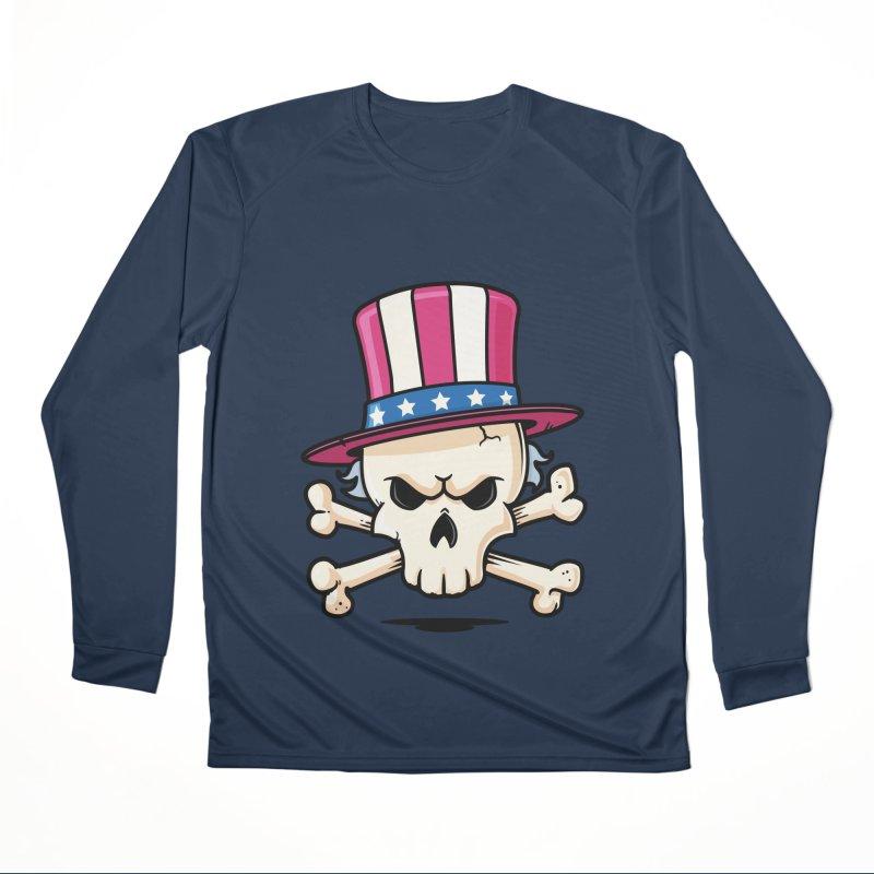 Uncle Sam Skull Men's Performance Longsleeve T-Shirt by zoljo's Artist Shop