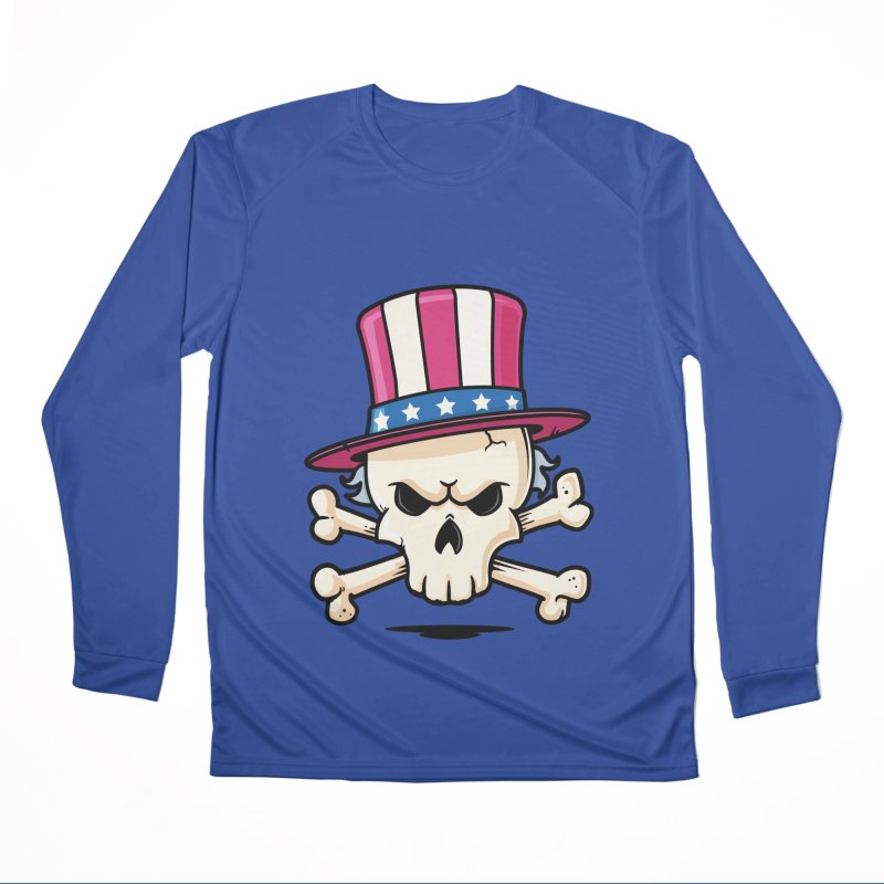 Uncle Sam Skull Women's Performance Unisex Longsleeve T-Shirt by zoljo's Artist Shop