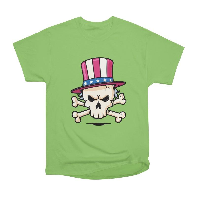 Uncle Sam Skull Women's Heavyweight Unisex T-Shirt by zoljo's Artist Shop