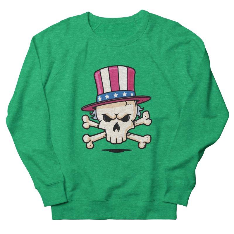 Uncle Sam Skull Women's French Terry Sweatshirt by zoljo's Artist Shop