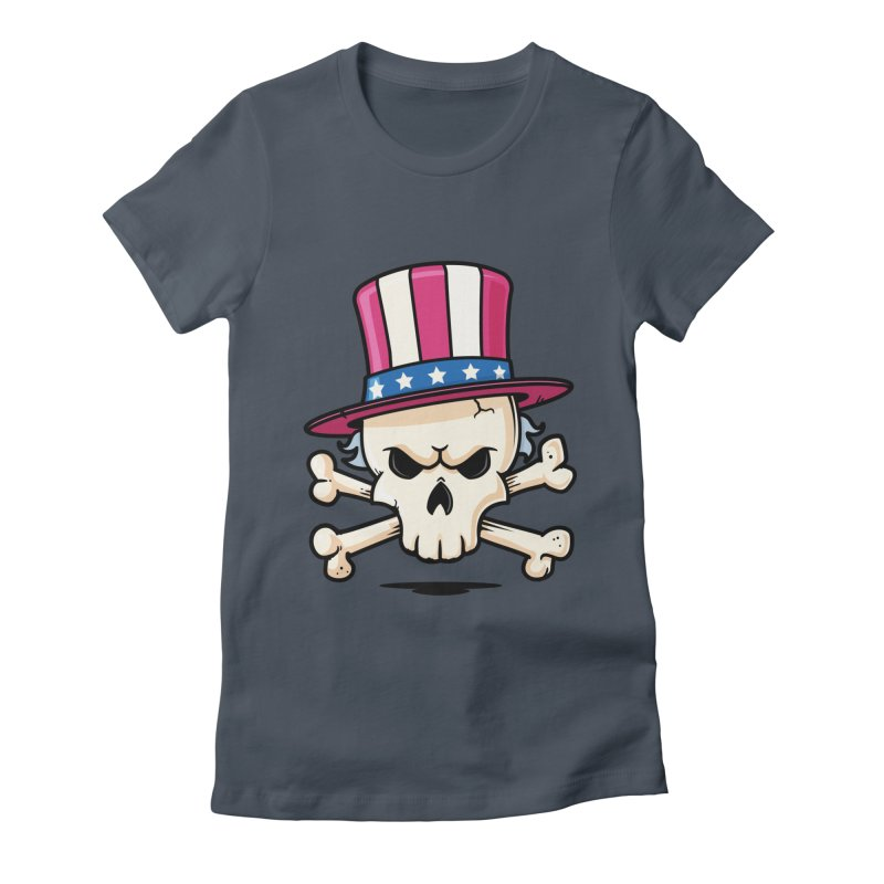 Uncle Sam Skull Women's Fitted T-Shirt by zoljo's Artist Shop