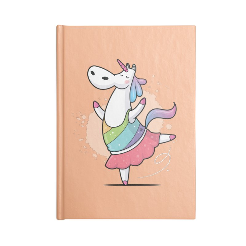 Unicorn Ballerina Accessories Blank Journal Notebook by zoljo's Artist Shop