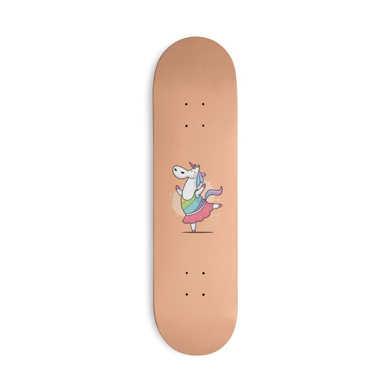 Unicorn Ballerina Accessories Deck Only Skateboard by zoljo's Artist Shop