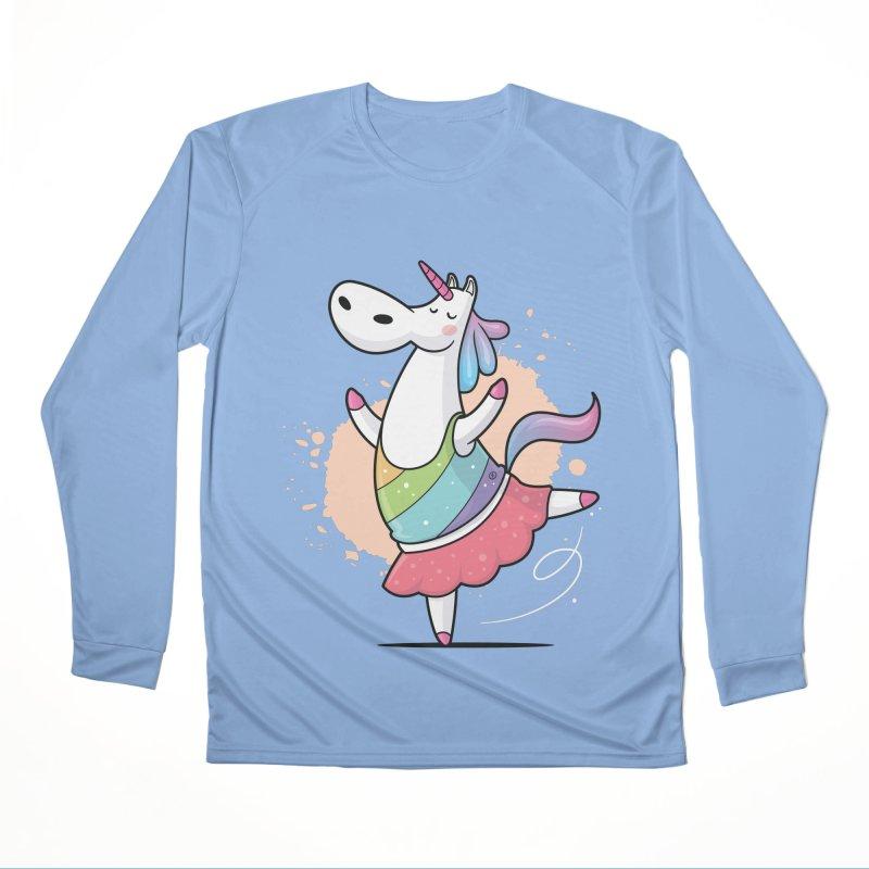 Unicorn Ballerina Men's Performance Longsleeve T-Shirt by zoljo's Artist Shop
