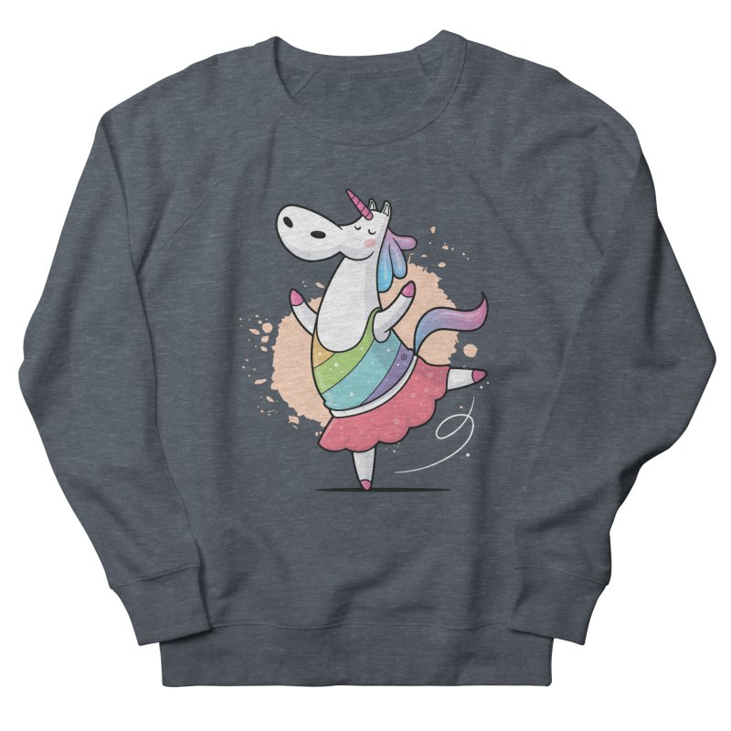 Unicorn Ballerina Women's French Terry Sweatshirt by zoljo's Artist Shop