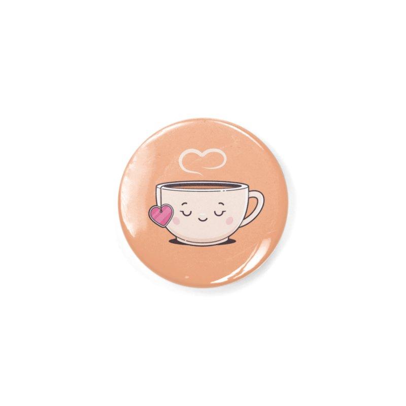 Tea Time Accessories Button by zoljo's Artist Shop