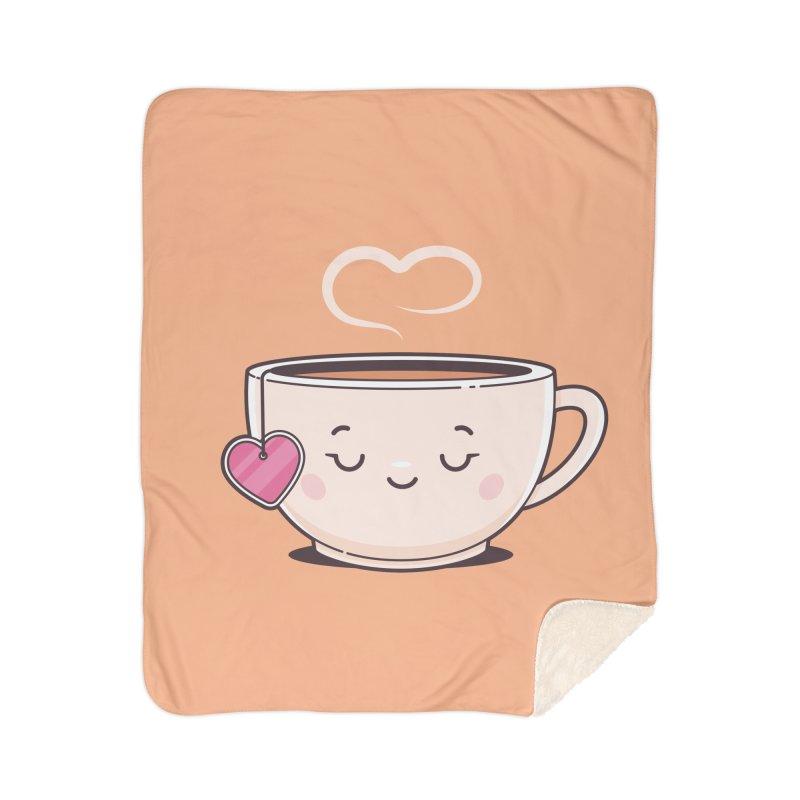 Tea Time Home Sherpa Blanket Blanket by zoljo's Artist Shop