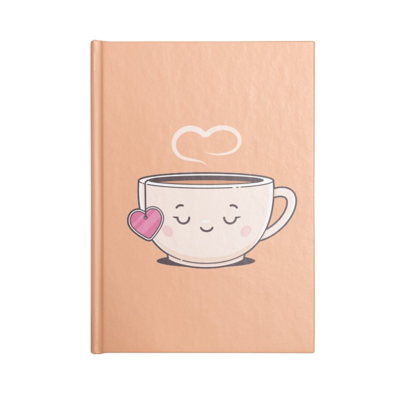 Tea Time Accessories Blank Journal Notebook by zoljo's Artist Shop