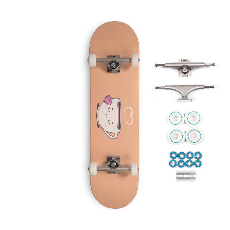 Tea Time Accessories Complete - Basic Skateboard by zoljo's Artist Shop