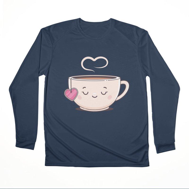 Tea Time Women's Performance Unisex Longsleeve T-Shirt by zoljo's Artist Shop