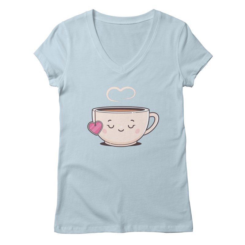 Tea Time Women's Regular V-Neck by zoljo's Artist Shop