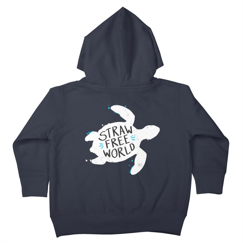 Straw Free World - Save The Sea Turtles Kids Toddler Zip-Up Hoody by zoljo's Artist Shop