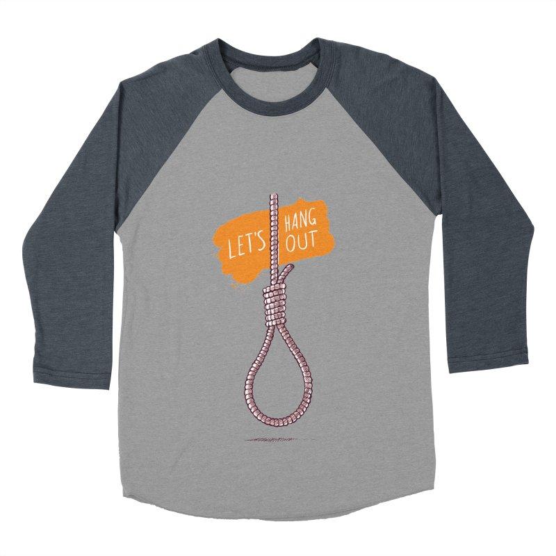 Let's Hang Out Men's Baseball Triblend T-Shirt by zoljo's Artist Shop