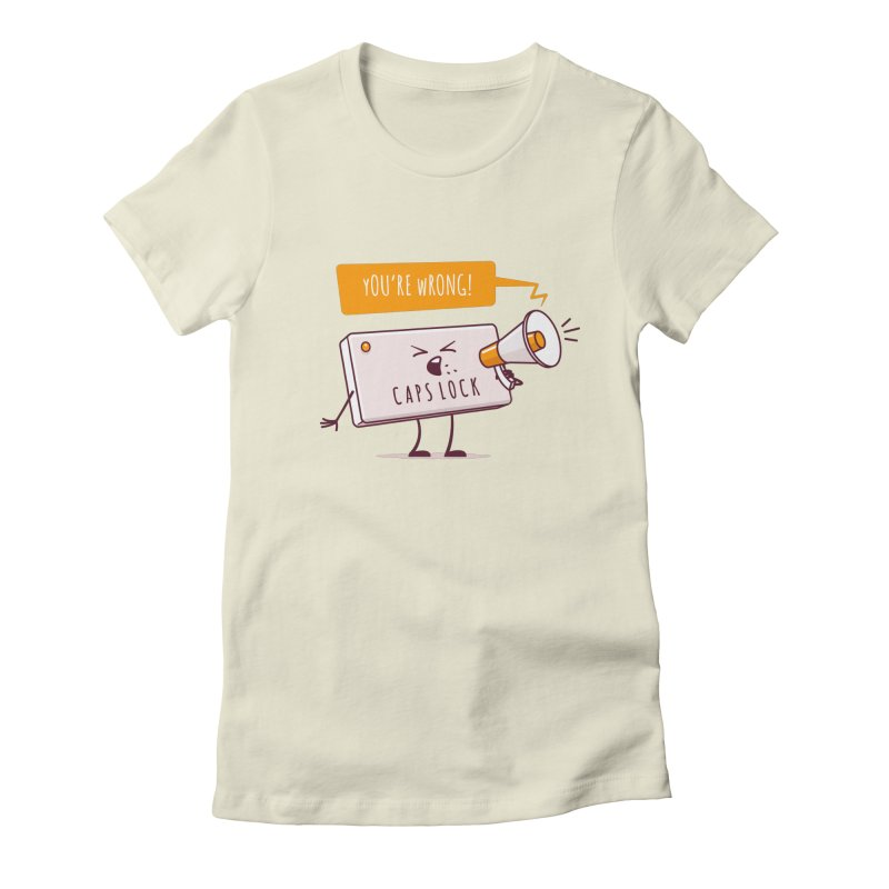 Internet Conflict Women's Fitted T-Shirt by zoljo's Artist Shop