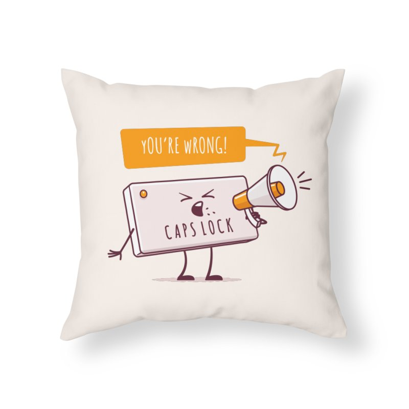 Internet Conflict Home Throw Pillow by zoljo's Artist Shop