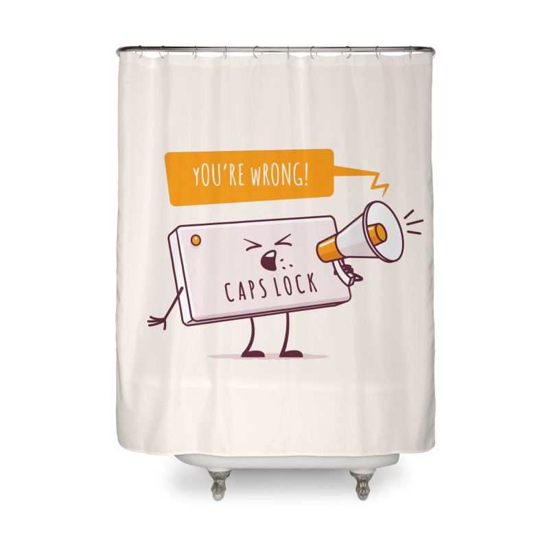 Internet Conflict Home Shower Curtain by zoljo's Artist Shop