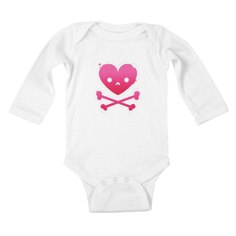 Deadly Love Kids Baby Longsleeve Bodysuit by zoljo's Artist Shop