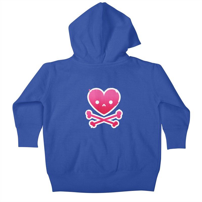 Deadly Love Kids Baby Zip-Up Hoody by zoljo's Artist Shop