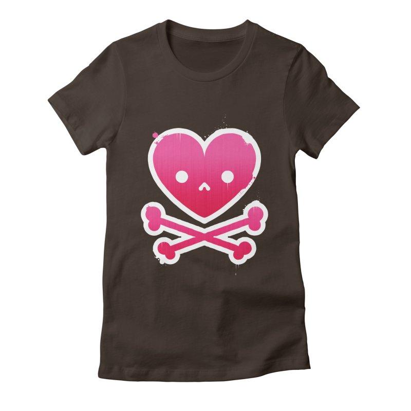 Deadly Love Women's Fitted T-Shirt by zoljo's Artist Shop