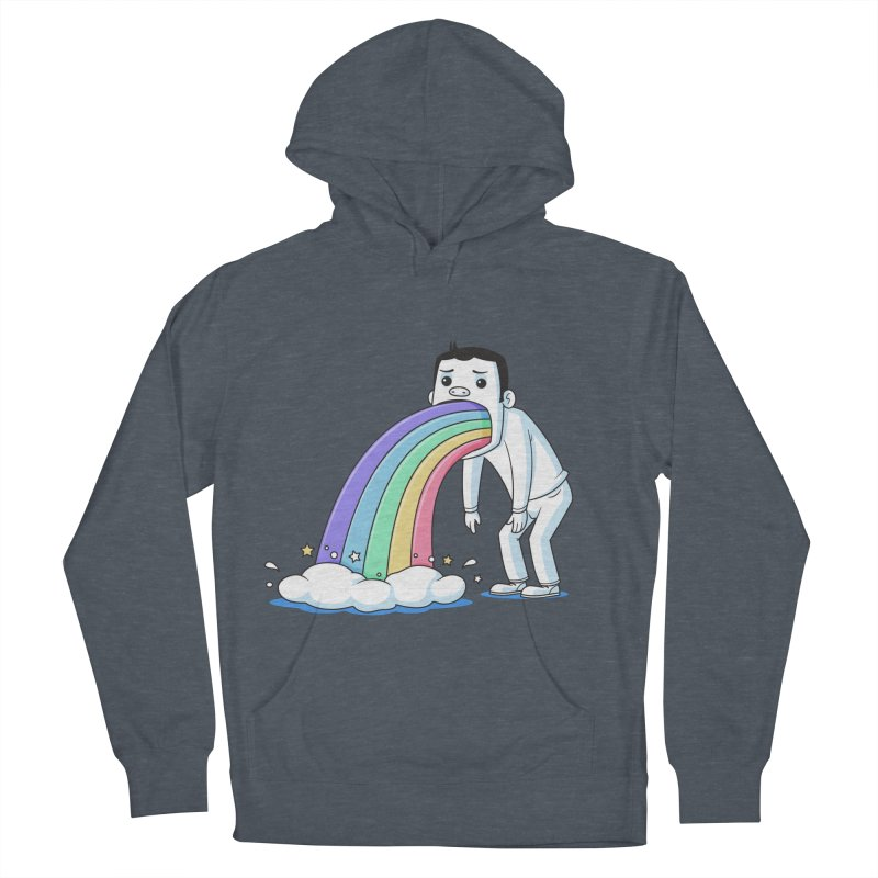 Puking Rainbow Men's Pullover Hoody by zoljo's Artist Shop