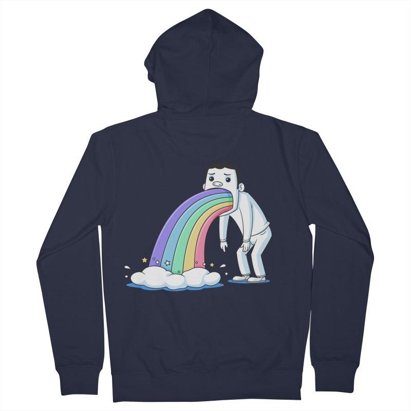 Puking Rainbow Women's Zip-Up Hoody by zoljo's Artist Shop
