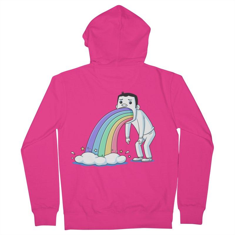 Puking Rainbow Men's Zip-Up Hoody by zoljo's Artist Shop