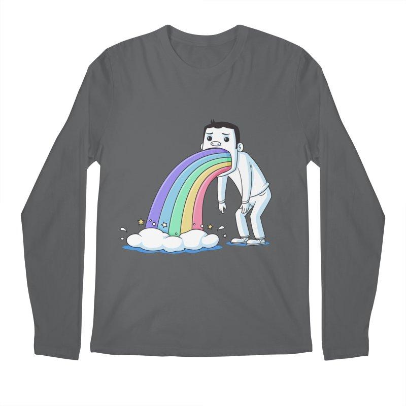 Puking Rainbow Men's Longsleeve T-Shirt by zoljo's Artist Shop