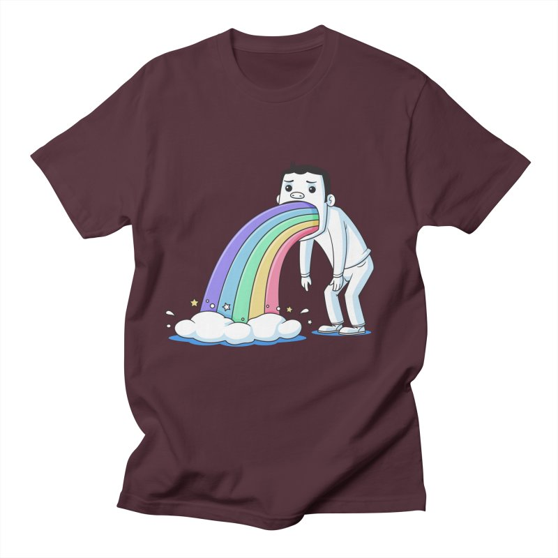 Puking Rainbow Men's T-Shirt by zoljo's Artist Shop