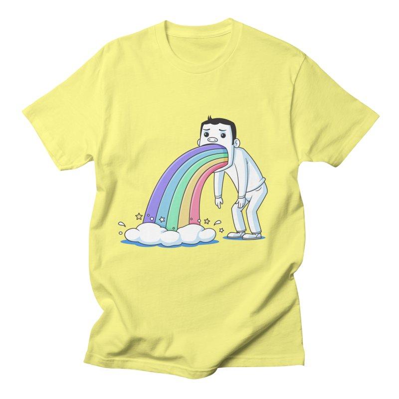 Puking Rainbow Men's T-shirt by zoljo's Artist Shop