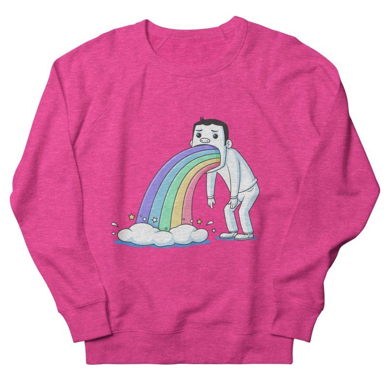 Puking Rainbow Men's Sweatshirt by zoljo's Artist Shop