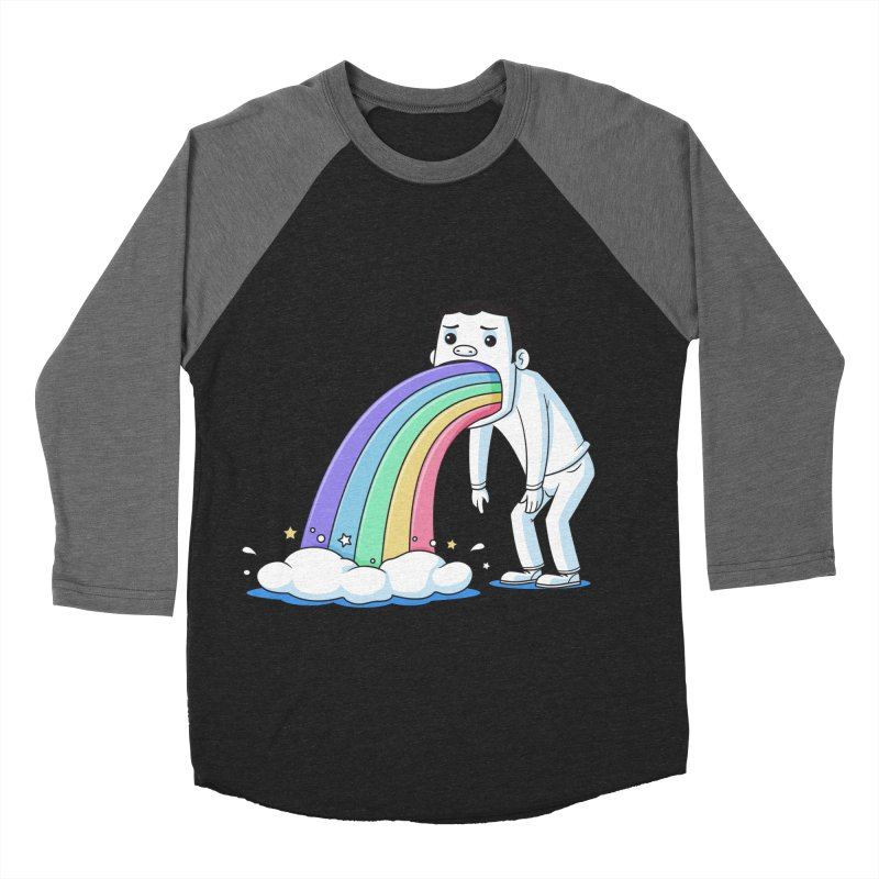 Puking Rainbow Women's Baseball Triblend T-Shirt by zoljo's Artist Shop