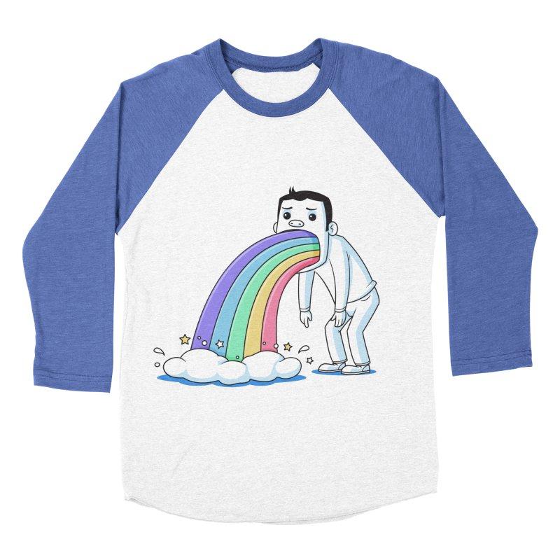 Puking Rainbow Men's Baseball Triblend T-Shirt by zoljo's Artist Shop