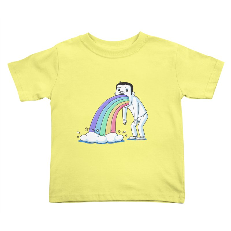 Puking Rainbow Kids Toddler T-Shirt by zoljo's Artist Shop