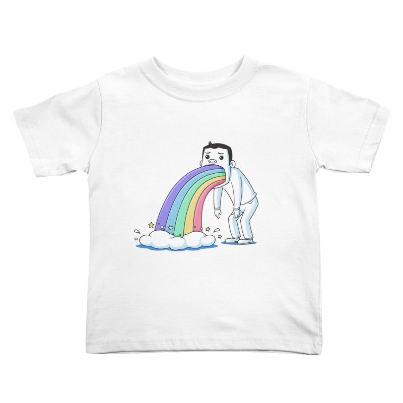 Puking Rainbow Kids Toddler T-Shirt by zoljo's Artist Shop