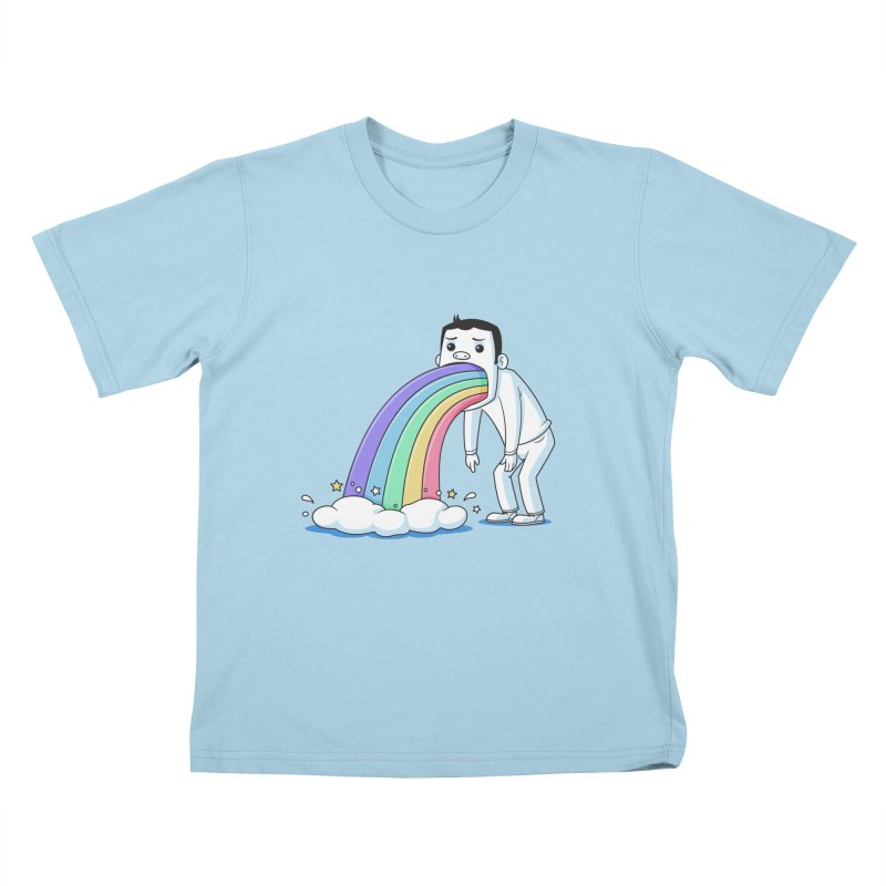 Puking Rainbow Kids T-Shirt by zoljo's Artist Shop