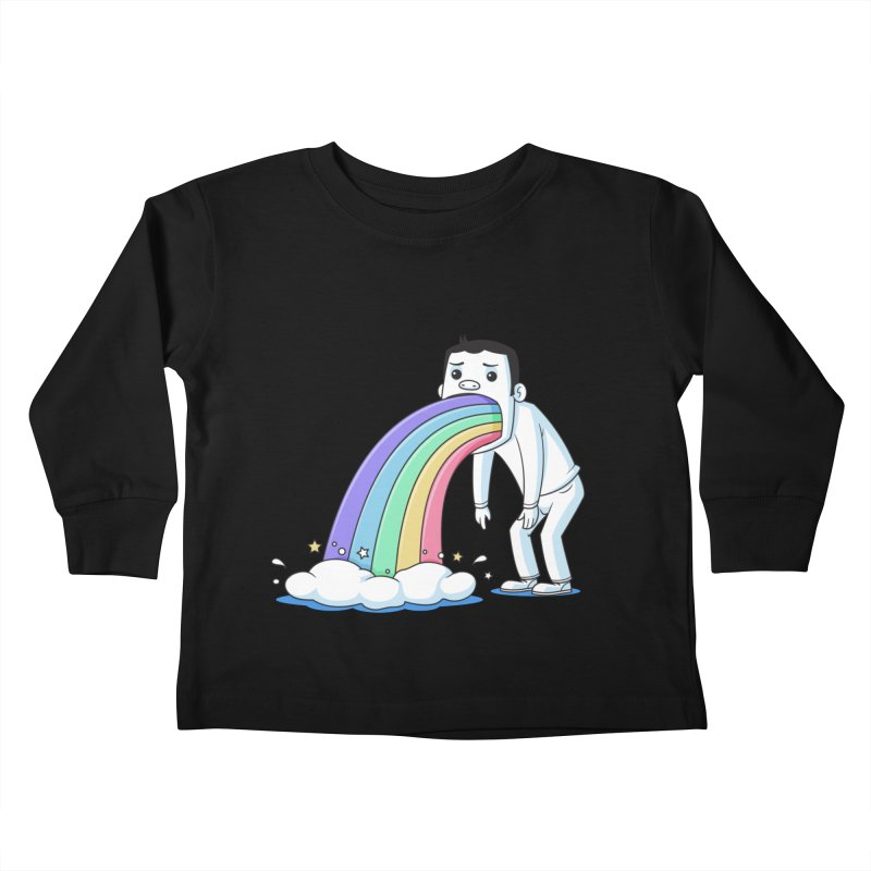 Puking Rainbow Kids Toddler Longsleeve T-Shirt by zoljo's Artist Shop