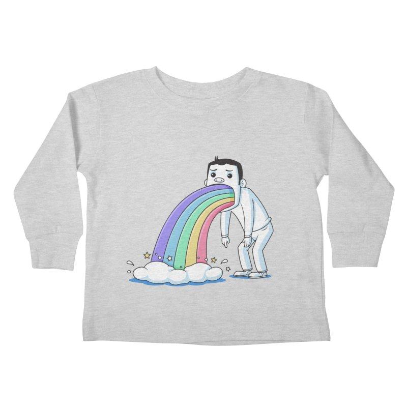 Puking Rainbow Kids Toddler Longsleeve T-Shirt by zoljo's Artist Shop