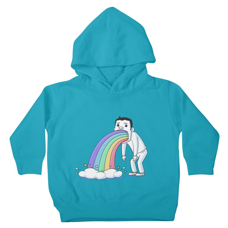 Puking Rainbow Kids Toddler Pullover Hoody by zoljo's Artist Shop