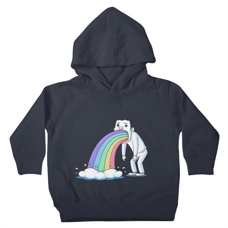 Puking Rainbow Kids Toddler Pullover Hoody by zoljo's Artist Shop