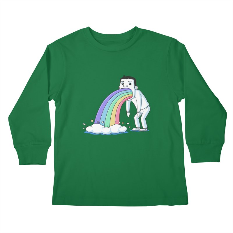 Puking Rainbow Kids Longsleeve T-Shirt by zoljo's Artist Shop