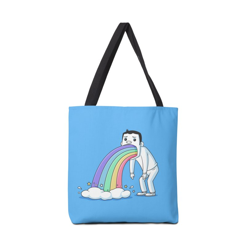 Puking Rainbow Accessories Bag by zoljo's Artist Shop