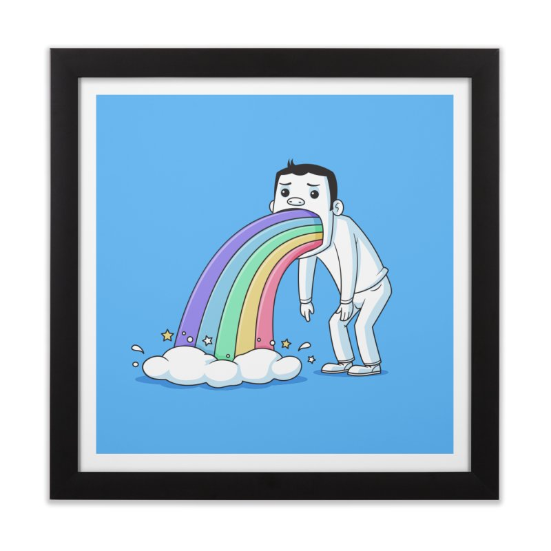 Puking Rainbow Home Framed Fine Art Print by zoljo's Artist Shop