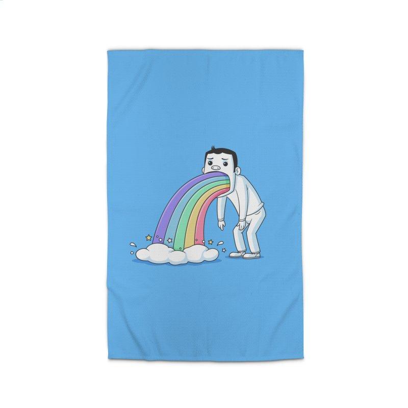Puking Rainbow Home Rug by zoljo's Artist Shop