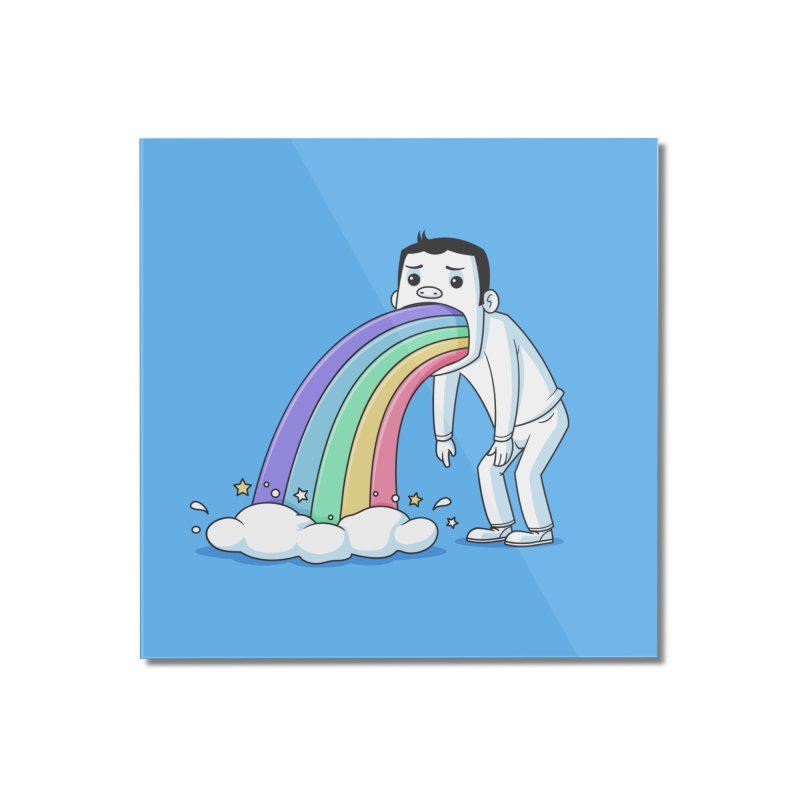 Puking Rainbow Home Mounted Acrylic Print by zoljo's Artist Shop