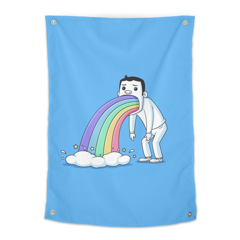 Puking Rainbow Home Tapestry by zoljo's Artist Shop