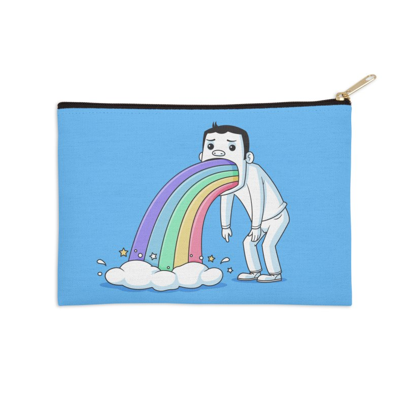Puking Rainbow Accessories Zip Pouch by zoljo's Artist Shop