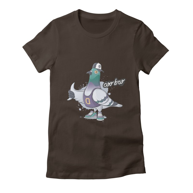 Coo' Bro Women's Fitted T-Shirt by zoljo's Artist Shop