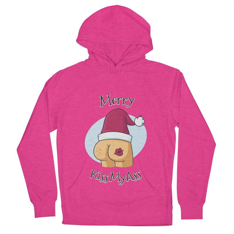 Merry KissMyAss Men's Pullover Hoody by zoljo's Artist Shop