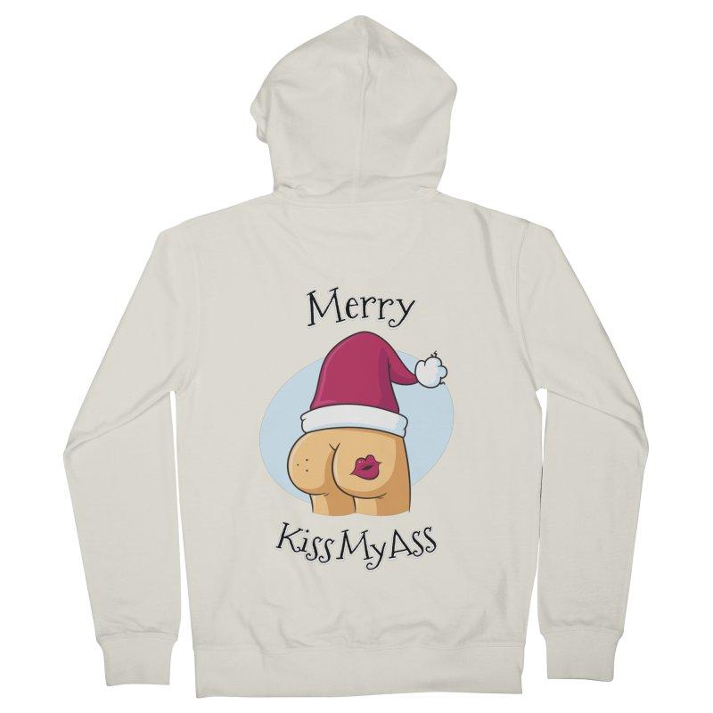 Merry KissMyAss Women's Zip-Up Hoody by zoljo's Artist Shop